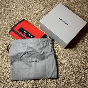 Balenciaga Red Nylon Wallet